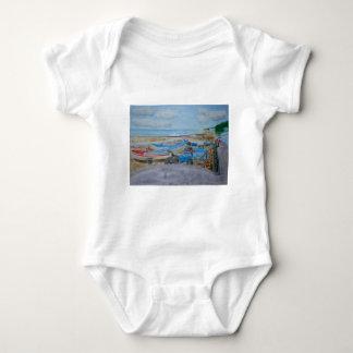 Tractor on Cromer Beach, East Coast Baby Bodysuit
