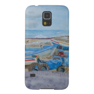 Tractor on Cromer Beach, East Coast Galaxy S5 Case
