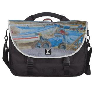 Tractor on Cromer Beach, East Coast Laptop Shoulder Bag