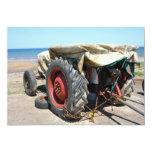 Tractor on the Beach Invitation 13 Cm X 18 Cm Invitation Card