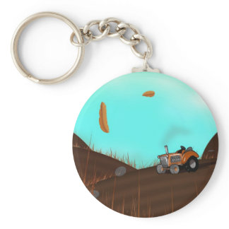 Tractor on the Farm Keychain
