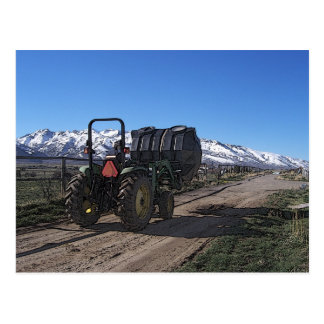 Tractor on the Ranch Post Card