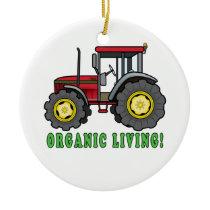 Tractor: Organic Living! Ceramic Ornament
