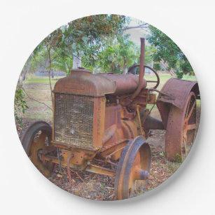 Tractor Paper Plate & Farm Equipment Plates | Zazzle