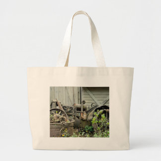 Tractor Parts Large Tote Bag