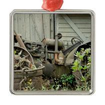 Tractor Parts Metal Ornament