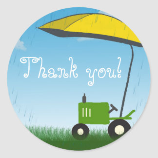 Tractor Party Favor Bag Sticker