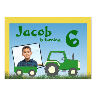 Tractor Party Invitation: Photo in Cart Card