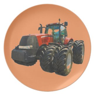 tractor party plate