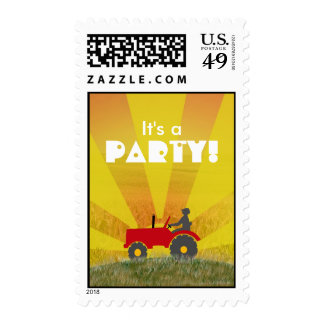 Tractor Party Postage