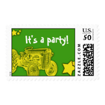 Tractor Party Postage Stamp