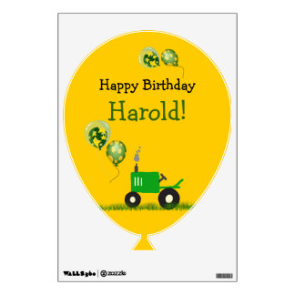 Tractor Party Wall Decal