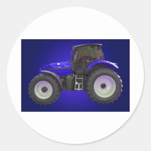 tractor pegatina redonda