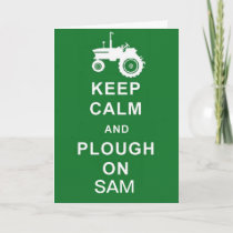 Tractor Personalised Birthday Card husband son etc