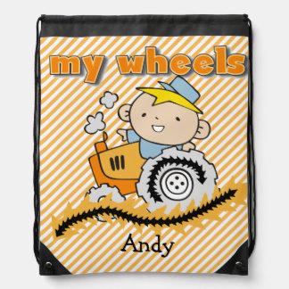 Tractor personalizado mi bolso de lazo de las mochilas