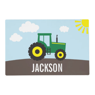 Tractor Personalized Placemat for Kids
