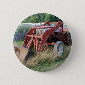 tractor pinback button