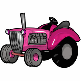 Tractor - Pink Statuette