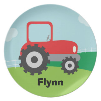 Tractor Plate - Personalized for Child