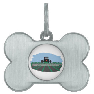 Tractor Plowing Fields Pet ID Tag