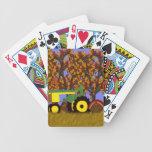 Tractor por los árboles y los pavos 1-Green del ot Baraja Cartas De Poker