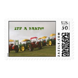 Tractor Postage Stamp: It's a party!