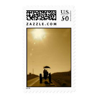 Tractor Postage: Sunrise Silhouette Postage