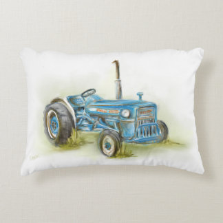 Tractor Print on Accent Pillow
