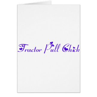 Tractor Pull Chick Greeting Cards