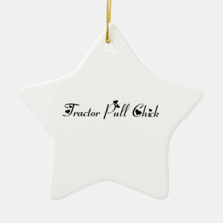 Tractor Pull Chick Tractor Gifts By Gear4gearheads Double-Sided Star Ceramic Christmas Ornament