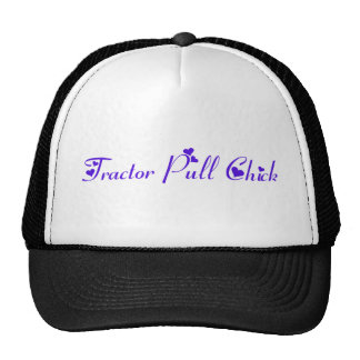 Tractor Pull Chick Trucker Hat