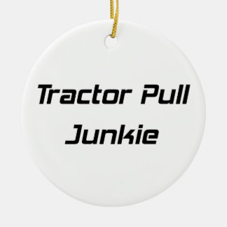 Tractor Pull Junkie Tractor Gifts By Gear4gearhead Double-Sided Ceramic Round Christmas Ornament