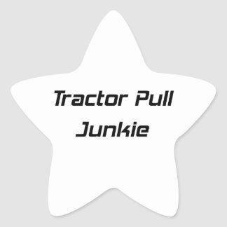 Tractor Pull Junkie Tractor Gifts By Gear4gearhead Star Sticker