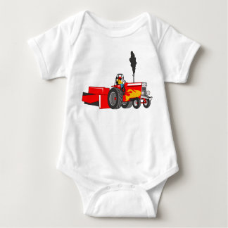 Tractor Pulling Baby Bodysuit
