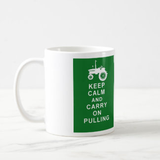 Tractor Pulling Mug Keep Calm Carry On Birthday