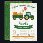 "Tractor Pumpkin Fall Autumn Birthday Invitation<br><div class=""desc"">Tractor Pumpkin Fall Autumn Farm  Birthday Invitation</div>"