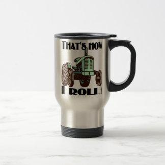 """Tractor - """"que es cómo ruedo"""" la taza del viaje"""