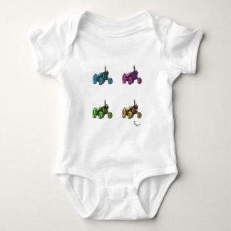 tractor rainbow baby bodysuit