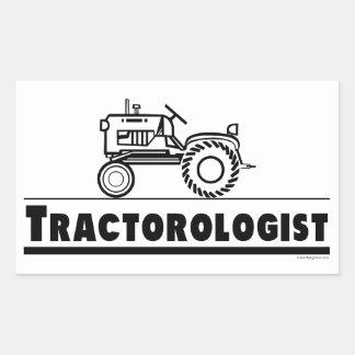 Tractor Rectangular Sticker