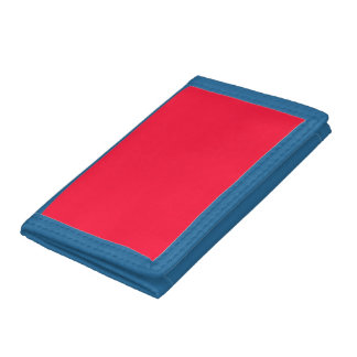 Tractor Red & Blue High End Single Color Tri-fold Wallet
