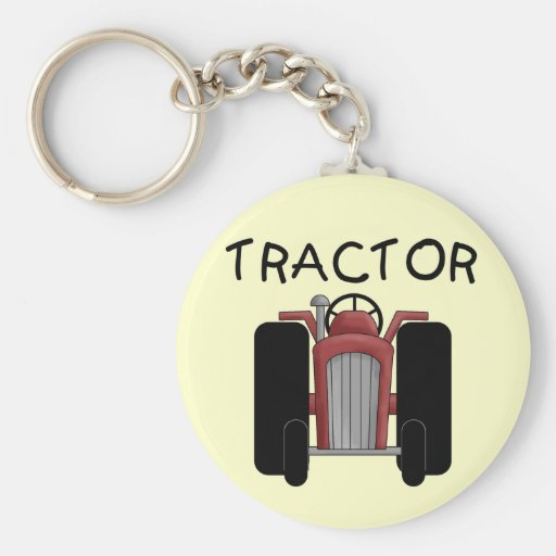 TRACTOR- Red T-shirts and Gifts Key Chain