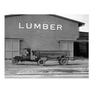 Tractor remolque temprano, 1925 tarjeta postal