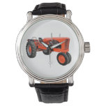 Tractor restaurado del vintage reloj