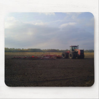 Tractor resting after tilling mouse pads