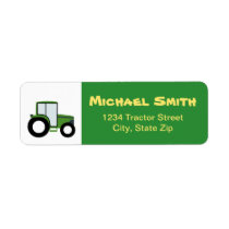 Tractor Return Address Label