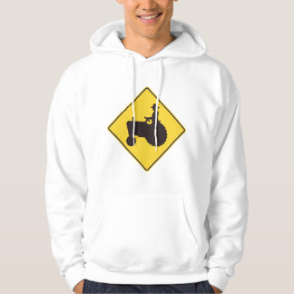 Tractor Road Sign Mens Hoodie