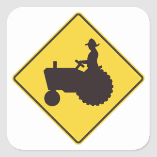 Tractor Road Sign Stickers