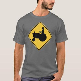 Tractor Road Sign Warning T-Shirt