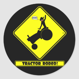 TRACTOR RODEO 1y Classic Round Sticker