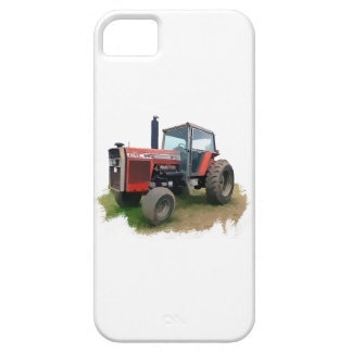 Tractor rojo de Massey Ferguson en el campo Funda Para iPhone SE/5/5s